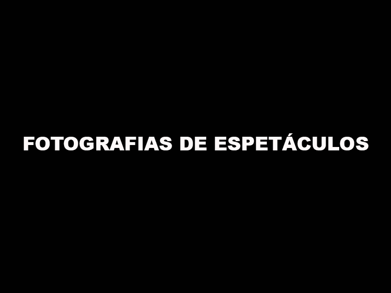 CURSO: FOTOGRAFIAS DE ESPETÁCULOS
